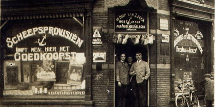 kruidenier oosbree 1916 hoek visstraat,frogerstraat,bik en arnoldkade